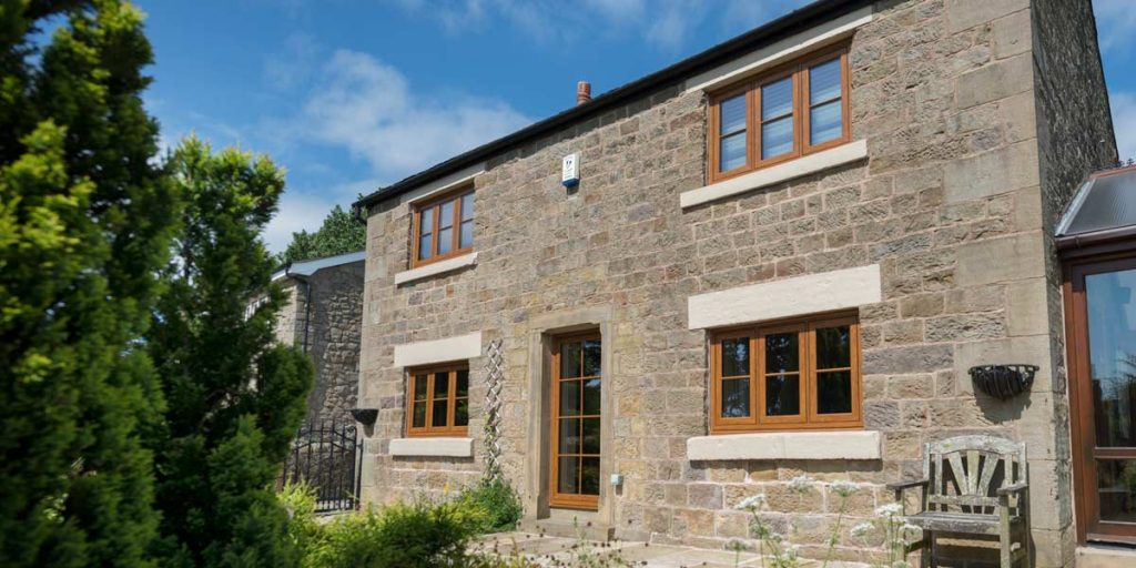 Envisage Flush Windows in Golden Oak